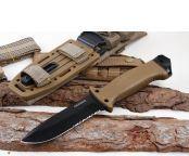 中国军用飞刀_戈博LMF1400步兵军用生存刀(沙漠色)_千里刀网